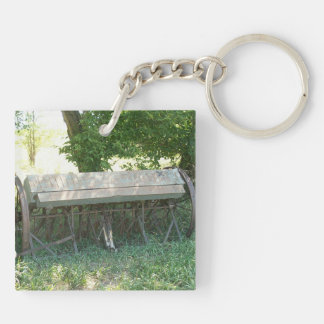Country Chicks Double-Sided Square Acrylic Keychain
