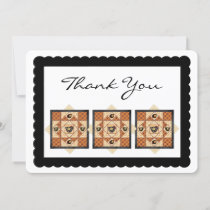 Country Chicks Quilt Square Flat Thank You Card