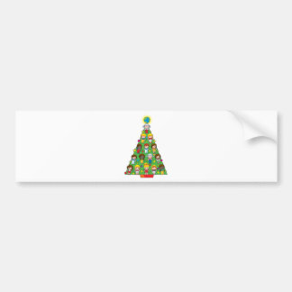 Country Children Christmas Tree Bumper Sticker