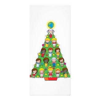 Country Children Christmas Tree Custom Rack Cards