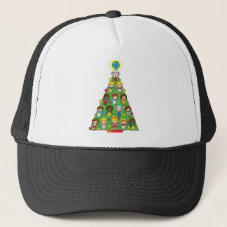 Country Children Christmas Tree Trucker Hat