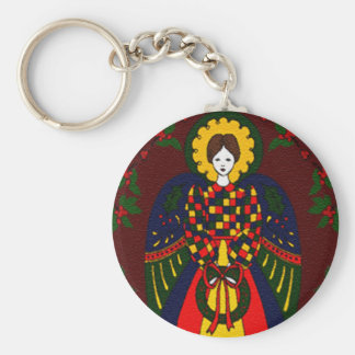 Country Christmas Angel Keychain