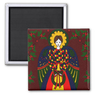 Country Christmas Angel Magnet