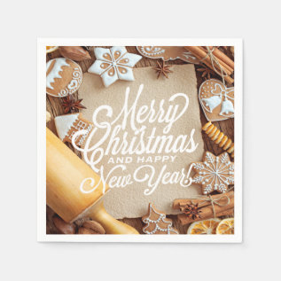 Country Christmas Cookie Serving Paper Napkins at Zazzle