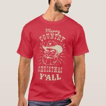 Country Christmas Cowboy Santa T-Shirt