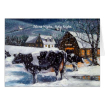 COUNTRY CHRISTMAS: COWS: SILENT NIGHT CARD