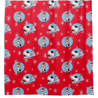 Country Christmas Shower Curtains | Zazzle
