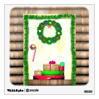 Country Christmas Door Wall Decal