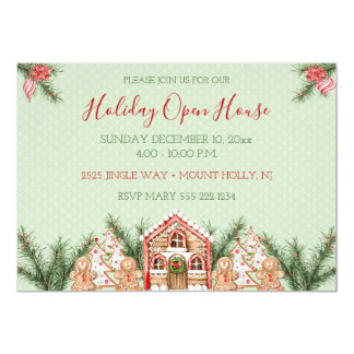 Country Christmas Gingerbread House Card
