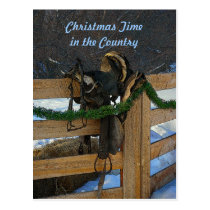 Country Christmas Postcard