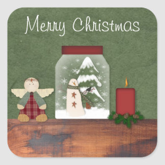 Country Christmas Sticker
