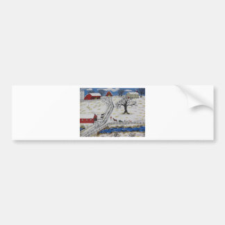 Country Christmas Tree Bumper Sticker