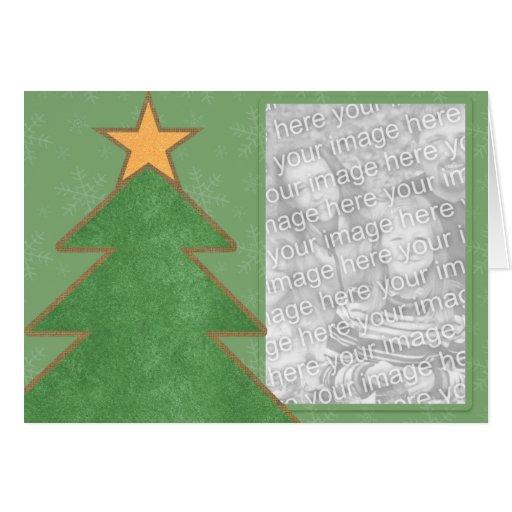 Country christmas tree holiday photo cards zazzle
