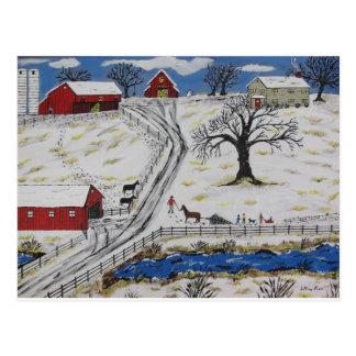 Country Christmas Tree Postcard