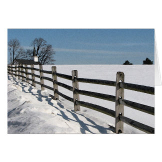 Country Church and Fence Card