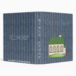 Country Church Bible Study Notebook 3 Ring Binder