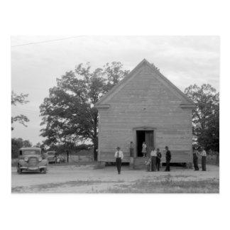 Country Church, Greshamville, Georgia, 1940s Postcard