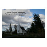"""Country Church,  """"I was glad"""" poster"""