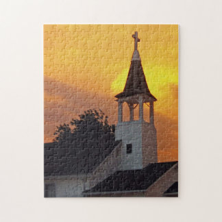Country Church Jigsaw Puzzle