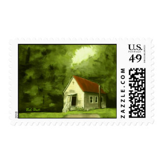 """Country Church"" Postage"