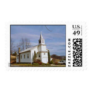 Country Church Stamp