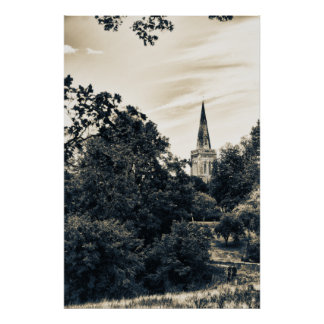 Country Church (vintage style) Poster