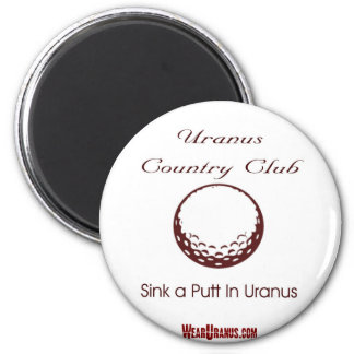 Country Club 2 Inch Round Magnet
