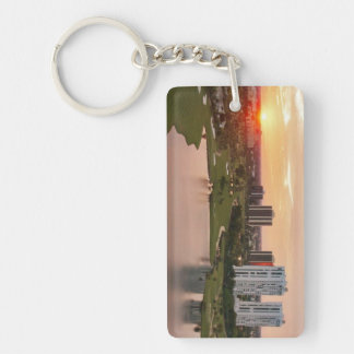 Country Club at sunset, Aventura, Florida Keychain
