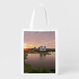 Country Club at sunset, Aventura, Florida Reusable Grocery Bag