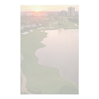 Country Club at sunset, Aventura, Florida Stationery