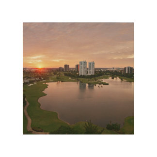 Country Club at sunset, Aventura, Florida Wood Wall Decor