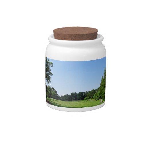 Country Club Candy Jar
