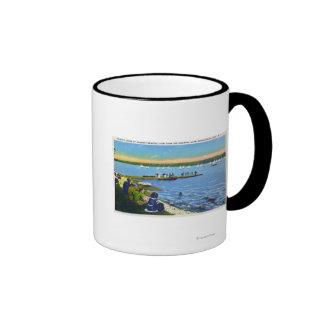 Country Club View of Sailboat Regatta # 2 Ringer Mug