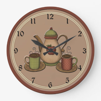 country kitchen wall clocks coffee wall clocks zazzle 6167
