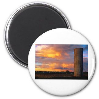 Country Coloful Sunset Fridge Magnets