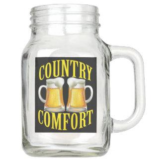 Country Comfort - Peanuts and Beer Mason Jar