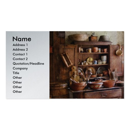 Country Cook - For the Master Chef Business Card