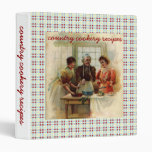 Country cookery recipes 3 ring binder