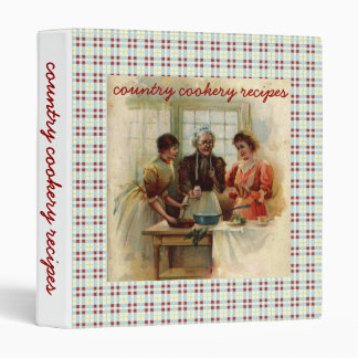 Country cookery recipes binder