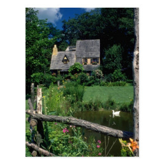 Country Cotswold Cottage located in Upstate Ne Postcard
