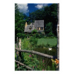 Country Cotswold Cottage located in Upstate Ne Poster