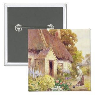 Country Cottage Pinback Button