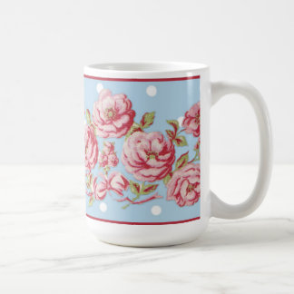 Country Cottage Floral Mug in Blue