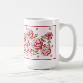 Country Cottage Floral Mug in Pale Pink