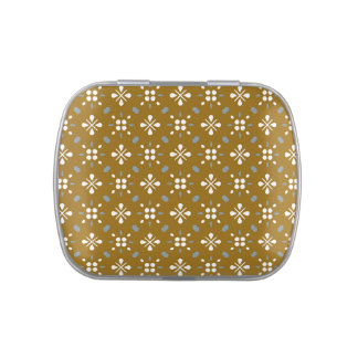 Country Cottage Floral Pattern Candy Tins