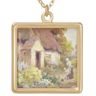Country Cottage Gold Plated Necklace