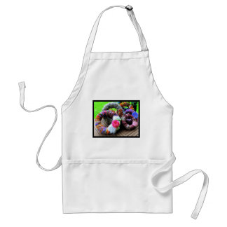 Country Cottage Hand Spun Wreaths Design Adult Apron