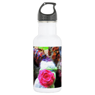 Country Cottage Hand Spun Wreaths Design Stainless Steel Water Bottle