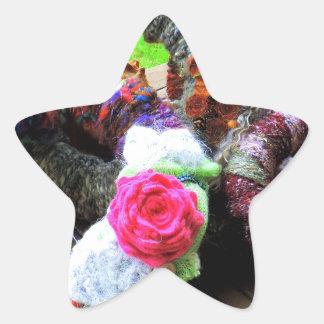 Country Cottage Hand Spun Wreaths Design Star Sticker