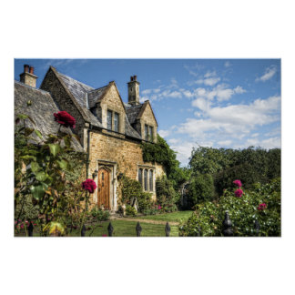 Country Cottage HDR art poster print